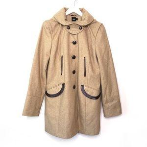 ASOS Jackets & Coats - Asos   Wool blend fold over collar coat, pea coat